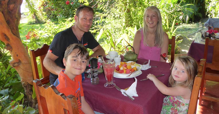 Hannah of Digital Detox Retreat and family in Costa Rica